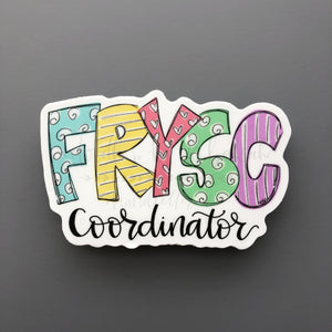 FRYSC Coordinator Sticker - Doodles by Rebekah