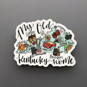 Kentucky Map Sticker - Doodles by Rebekah