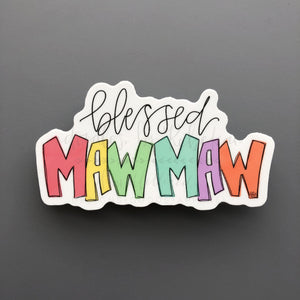 Blessed Mawmaw Sticker - Doodles by Rebekah
