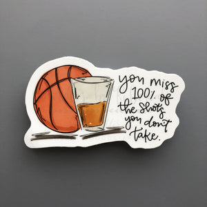 Basketball Shots Sticker - Doodles by Rebekah