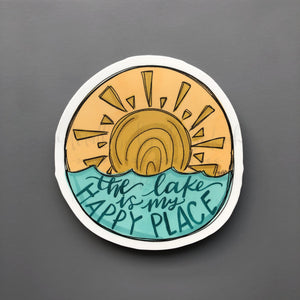 The Lake Is My Happy Place Sticker - Doodles by Rebekah