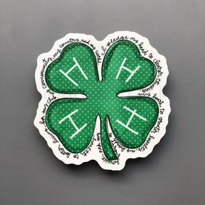 4-H Sticker - Doodles by Rebekah