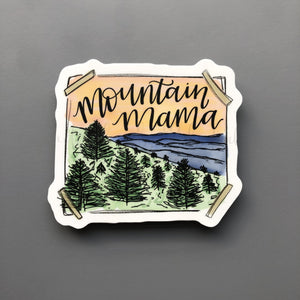 Mountain Mama Sticker - Doodles by Rebekah