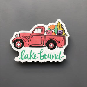 Lake Bound Sticker - Doodles by Rebekah