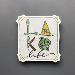 Lake Life Sticker - Doodles by Rebekah
