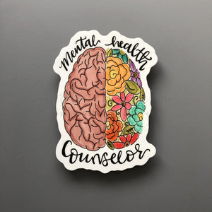 Mental Health Counselor Sticker - Doodles by Rebekah