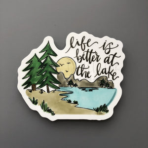 Life is Better at the Lake Sticker - Doodles by Rebekah