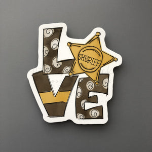LOVE Sheriff Sticker - Doodles by Rebekah
