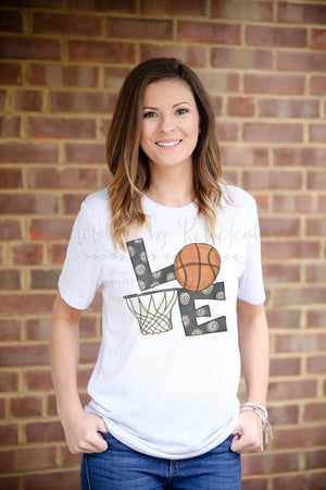 LOVE Basketball Tee - Doodles by Rebekah