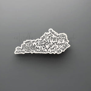 Bardstown Word Art Sticker - Doodles by Rebekah