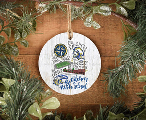 Bethlehem High School Pride Ornament - Doodles by Rebekah