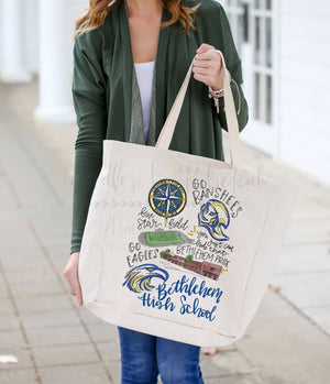 Bethlehem High School Pride Tote - Doodles by Rebekah