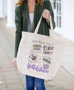 Bardstown High School Pride Tote - Doodles by Rebekah