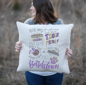 Bardstown High School Pride Pillow - Doodles by Rebekah