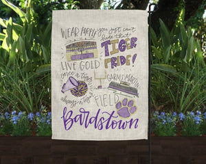 Bardstown High School Pride Garden Flag - Doodles by Rebekah