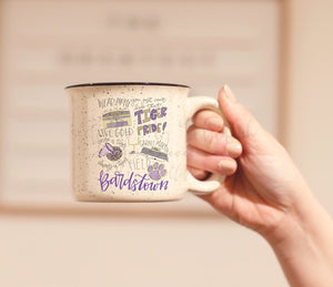 Bardstown High School Pride Coffee Mug - Doodles by Rebekah
