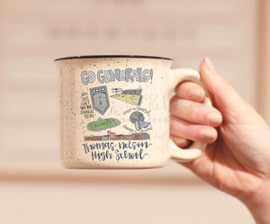 Thomas Nelson High School Pride Coffee Mug - Doodles by Rebekah