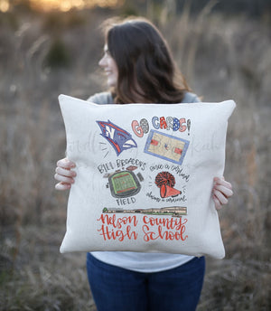 Nelson County High School Pride Square Pillow - Pillow