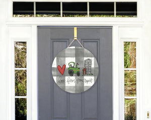 Love. Farm. Grow. Repeat Door Hanger - Door Hanger
