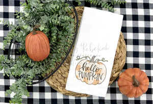 Hello Pumpkin Tea Towel - Tea Towels