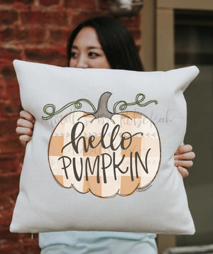 Hello Pumpkin Square Pillow - Pillow