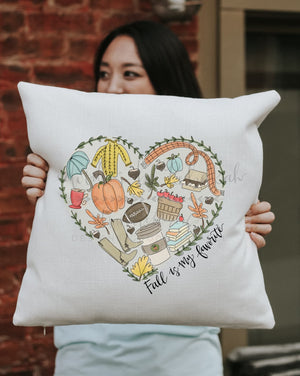 Fall Is My Favorite Square Pillow - Pillow