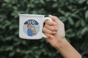 Rosie The Riveter VOTE Coffee Mug - Coffee Mug