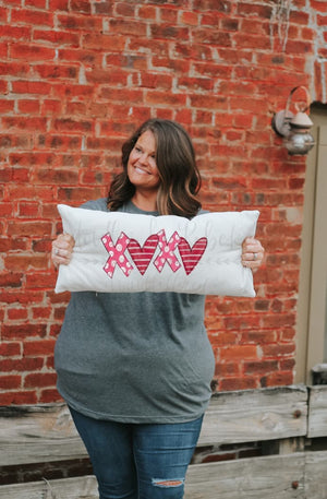 XOXO Lumbar Pillow - Pillow