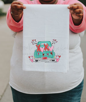 Valentine Truck Tea Towel - Tea Towels