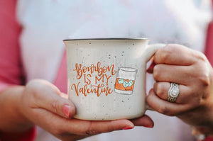 Bourbon Is My Valentine Coffee Mug - Coffee Mug