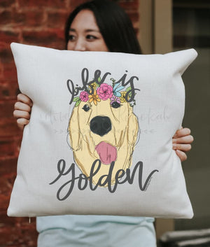 Life is Golden Square Pillow - Pillow