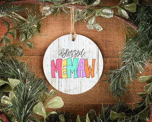 Blessed Memaw Ornament - Ornaments