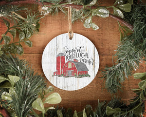 Support Your Local Farmer Ornament - Ornaments