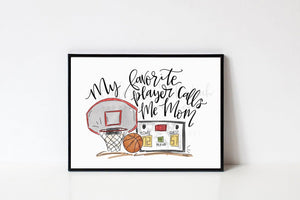 My Favorite Player Basketball 8x10 Print - Doodles by Rebekah