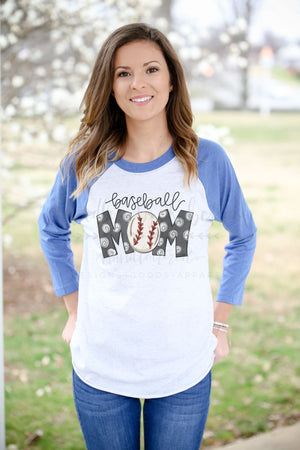 Baseball Mom Raglan - Doodles by Rebekah