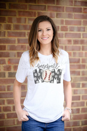 Baseball Mom Tee - Doodles by Rebekah