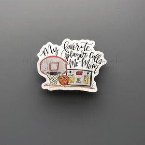 My Favorite Player Basketball Sticker - Doodles by Rebekah