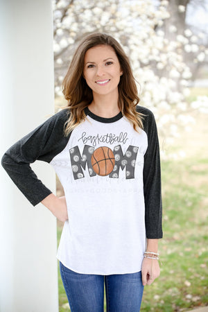 Basketball Mom Raglan - Doodles by Rebekah