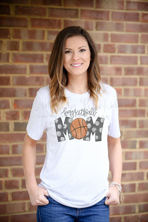 Basketball Mom Tee - Doodles by Rebekah