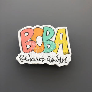 BCBA Behavior Analyst Sticker - Sticker