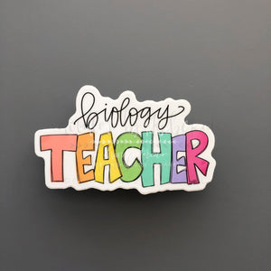 Biology Teacher Sticker - Doodles by Rebekah