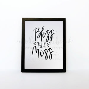 Bless This Mess 8x10 Print - Doodles by Rebekah