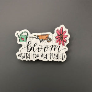 Bloom Where You Are Planted Sticker - Doodles by Rebekah