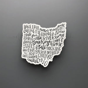 Ohio Word Art Sticker - Doodles by Rebekah