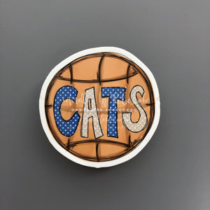 Cats Basketball Sticker - Doodles by Rebekah