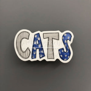 CATS Sticker - Doodles by Rebekah