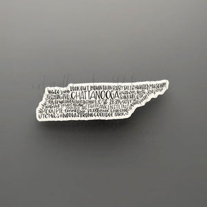 Chattanooga, TN Word Art Sticker - Doodles by Rebekah