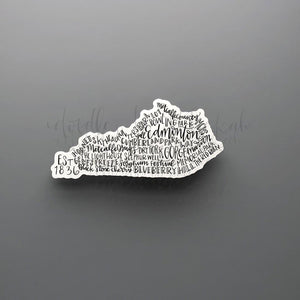 Edmonton, KY Word Art Sticker - Doodles by Rebekah