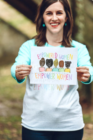 Empowered Women Empower Women 8x10 Print - Doodles by Rebekah