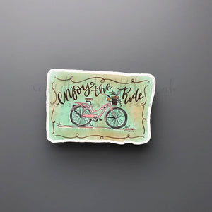 Enjoy the Ride Sticker - Doodles by Rebekah